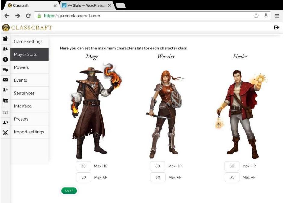 Tipos Jugador ClassCraft