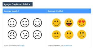 Rubricas creativas con Emojis
