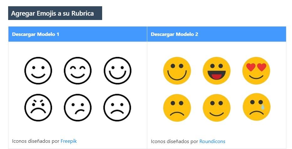 Emojis en Rubricas