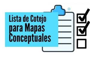 Listas de Cotejo Mapas Conceptuales