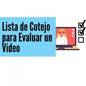 Lista de cotejo para evaluar video